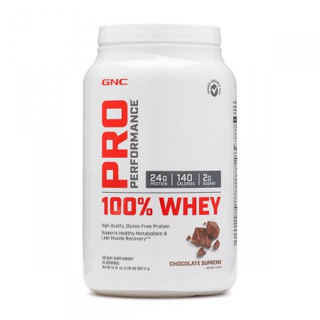 100% Whey GNC Pro Performance Sabor Chocolate Supreme
