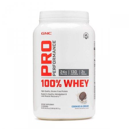 100% Whey GNC Pro Performance Sabor Cookies & Cream 857,5g   Drogasil.com