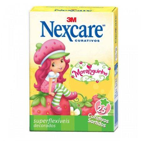 NEXCARE CURATIVO SUPERFLEXIVEL INFANTIL MORANGUINHO C/25 UN