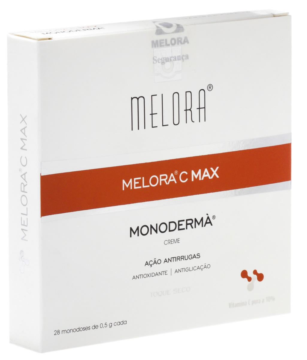 Creme Antirrugas Melora C Max Monoderma cápsulas para aplicação no rosto com 28 unidades 1 Caixa com 28 Unidades