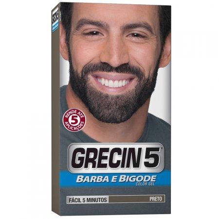 Color Gel Barba e Bigode Grecin 5 Preto