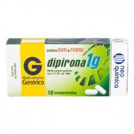 Dipirona Monoidratada 1g Neo Química com 10 comprimidos