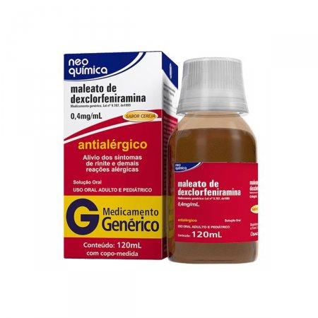 Maleato de Dexclofeniramina 0,4mg