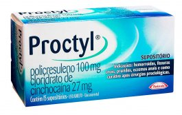 Supositório Proctyl com 15 unidades