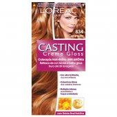 Coloração Permanente Casting Creme Gloss N° 834 Caramelo
