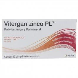 Vitergan Zinco PL com 30 comprimidos
