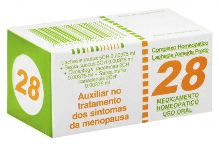 Complexo Homeopático Lachesis N° 28