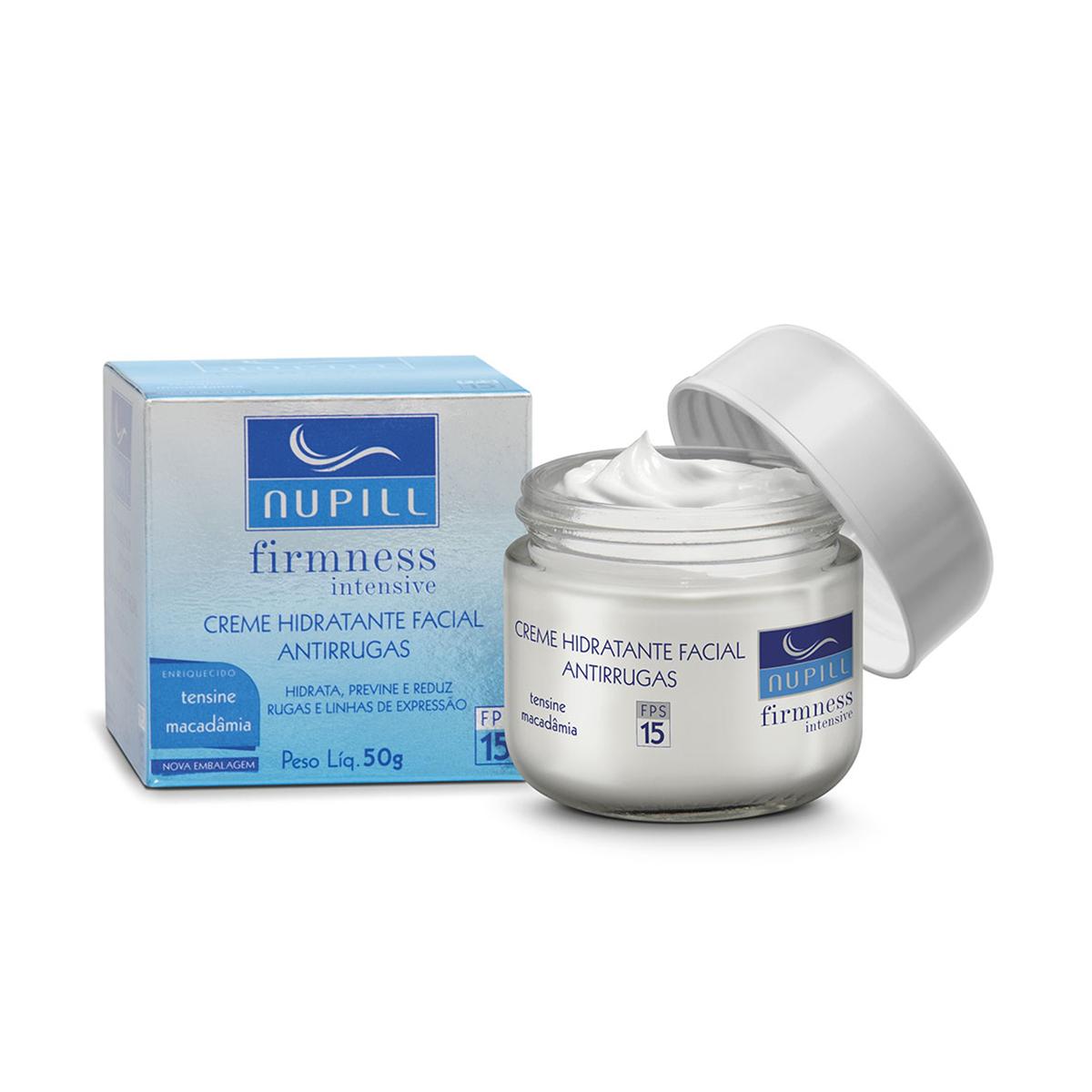Creme Hidratante Facial Antirrugas Nupill FPS 15 com 50g 50g