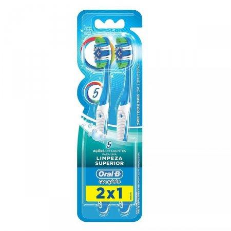 Escova Dental Oral-B Complete 5 Ações de Limpeza Macia N°40 Leve 2 Pague 1 Unidade   Drogasil.com Foto 1