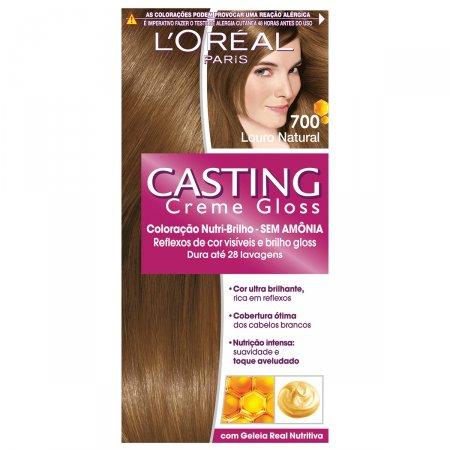 Coloração Permanente Casting Creme Gloss N° 700 Louro Natural