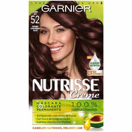NUTRISSE COLORACAO PERMANENTE GARNIER 52 MARROM ACAJU