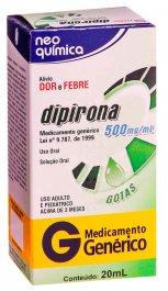 Dipirona Monoidratada 500mg/ml Neo Química Gotas com 20ml