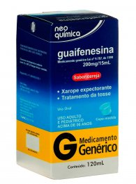 Guaifenesina 13,3mg/ml Xarope com 120ml