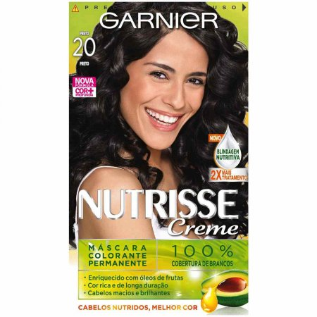 NUTRISSE COLORACAO PERMANENTE GARNIER 20++ PRETO ABSOLUTO