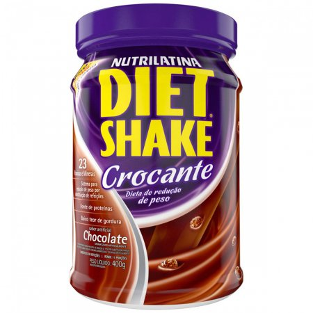 Diet Shake Crocante Chocolate Nutrilatina   Drogasil