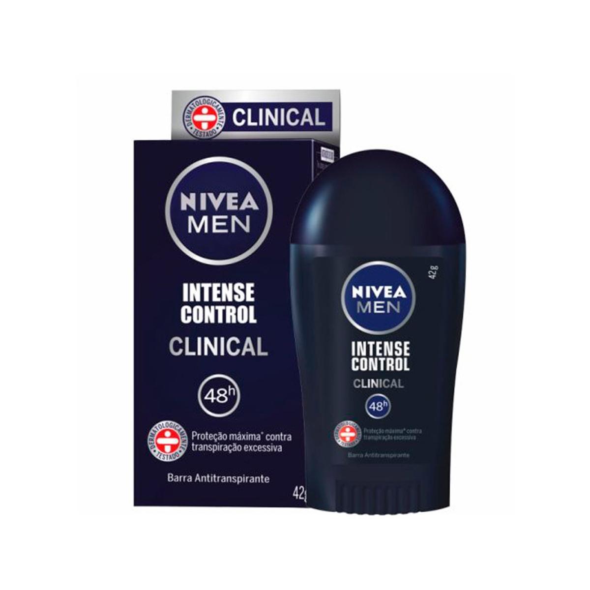 Desodorante Antitranspirante em Barra Nivea Men Clinical Intense Control com 42g 42g