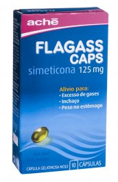 FLAGASS 125 MG 10 CAPSULAS