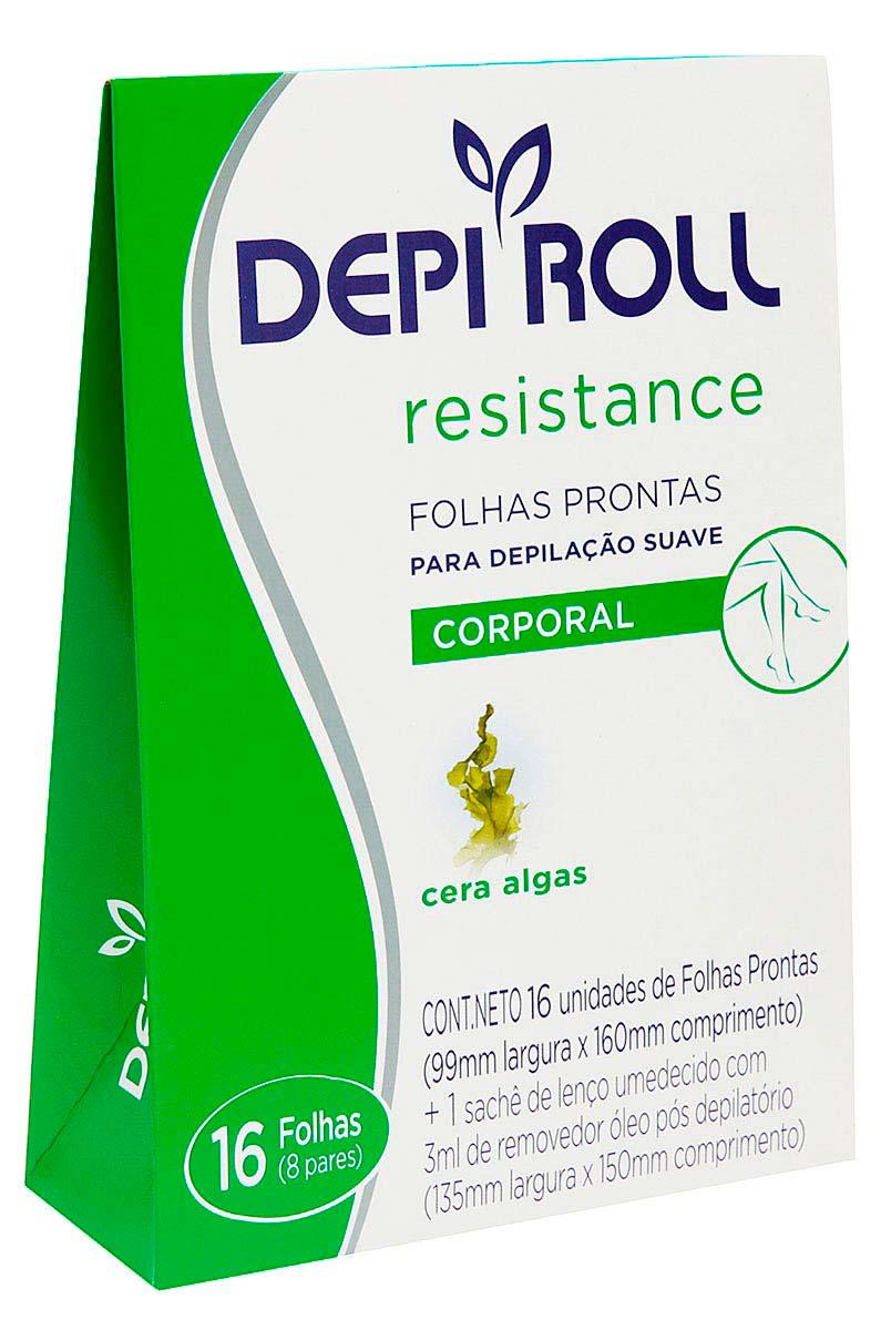 Folhas Prontas para Depilação Corporal Algas DepiRoll 1 Pacote com 6 Unidades