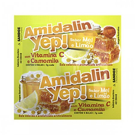 Bala Amidalin Yep Sabor Mel Limão