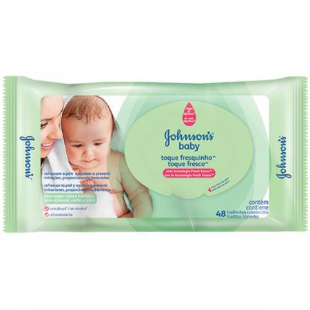 Toalhas Umedecidas Johnson's Baby Toque Fresquinho