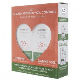 Kit Protetor Solar Roc Minesol Oil Control FPS 30 com 2 unidades de 50g cada