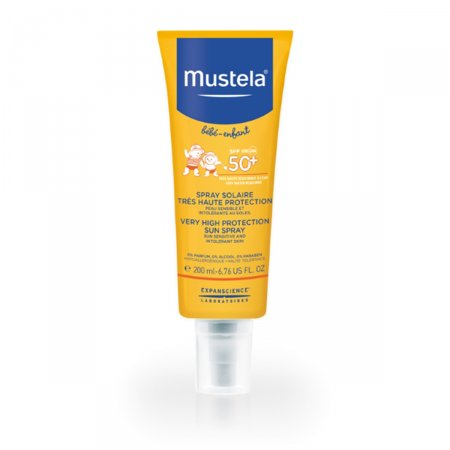 MUSTELA PROTETOR SOLAR INFATIL SPRAY FPS50 200ML