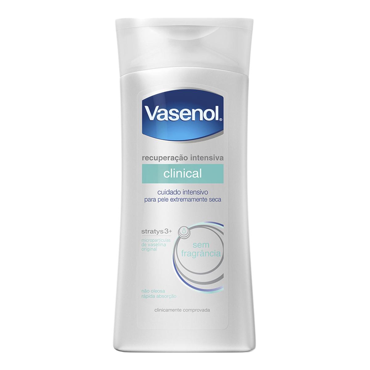 Loção Hidratante Vasenol Recuperação Intensiva Clinical Pele Seca Sem Fragância com 200ml 200ml