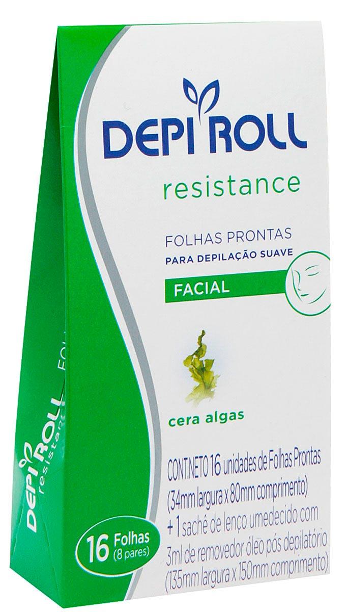 Folhas para Depilação Facial DepiRoll 1 Pacote com 8 pares