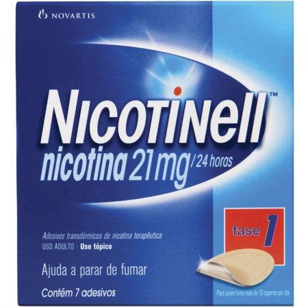NICOTINELL ANTI TABAGISMO USO ADULTO 21 MG COM 7 ADESIVOS