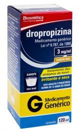 Dropropizina 3,0mg/ml Xarope com 120ml