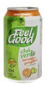 FEEL GOOD CHA VERDE LARANJA COM GENGIBRE LATA 330 ML
