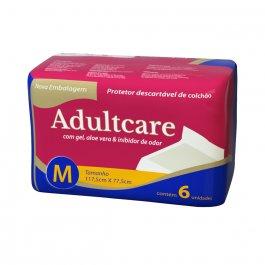 Protetor Descartável de Colchão Adultcare M com 6 unidades