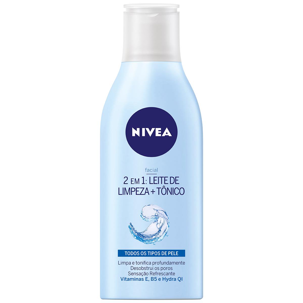 Nivea 2 em 1 Leite de Limpeza + Tônico Facial com 200ml 200ml
