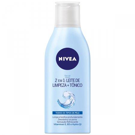 Nivea 2 em 1 Leite de Limpeza + Tônico Facial com 200ml