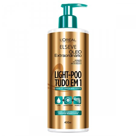ELSEVE LIGHT POO CREME DE LIMPEZA OLEO EXTRAORDINARIO 400ML