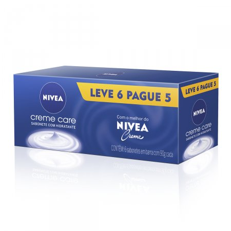 NIVEA BATH CARE SABONETE BARRA CREME CARE 90G LEVE 6 PAGUE 5