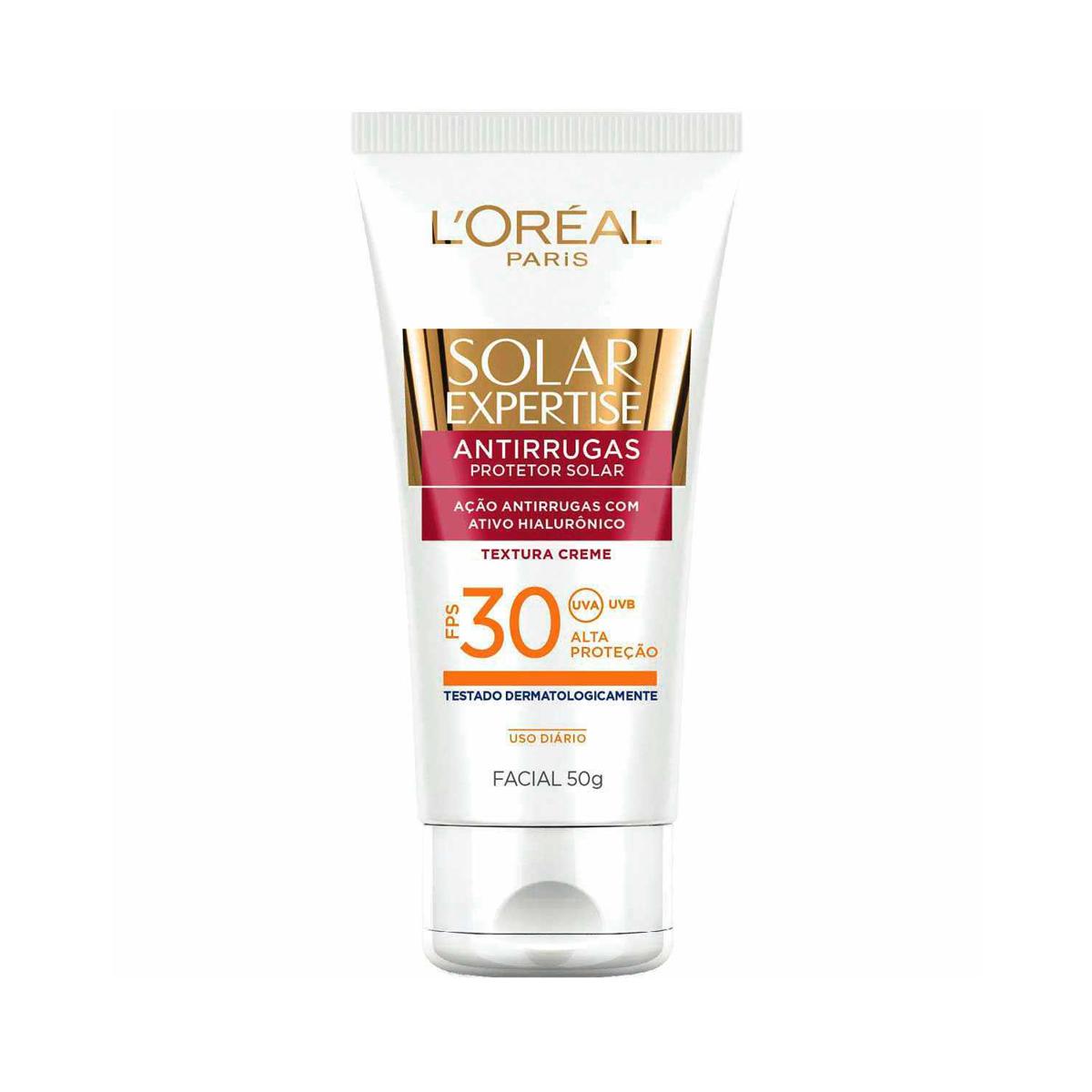 Protetor Solar Facial L'oréal Expertise Antirrugas Oil-Free FPS 30 com 50g 50g