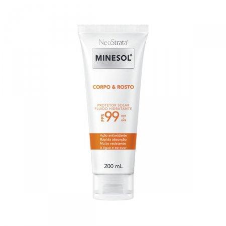 Protetor Solar Fluido Hidratante Antioxidante Corpo & Rosto Neostrata Minesol FPS99 200ml | Drogasil.com Foto 1