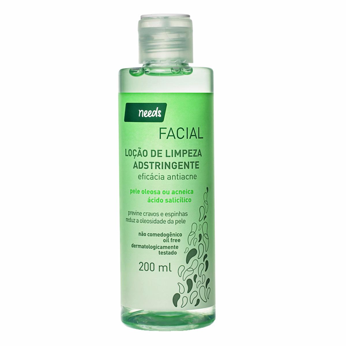 Tônico Facial Adstringente Needs Pele Oleosa e Acneica com 200ml 200ml