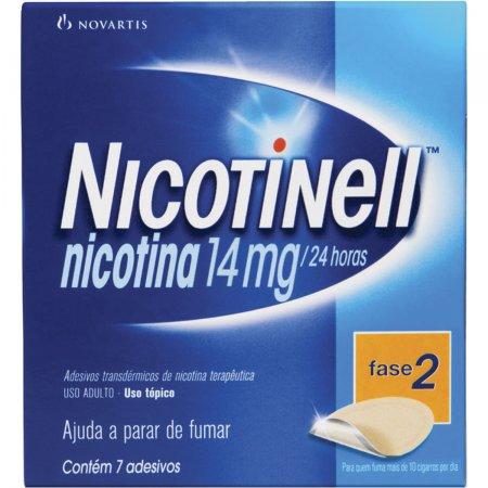 NICOTINELL ANTI TABAGISMO USO ADULTO 14 MG COM 7 ADESIVOS