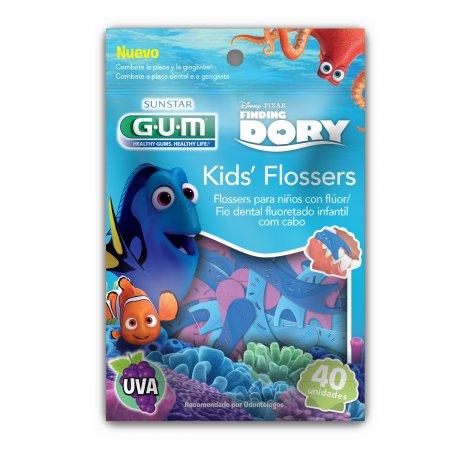 Fio Dental Infantil com Cabo Flosser Disney Dory Sabor de Uva
