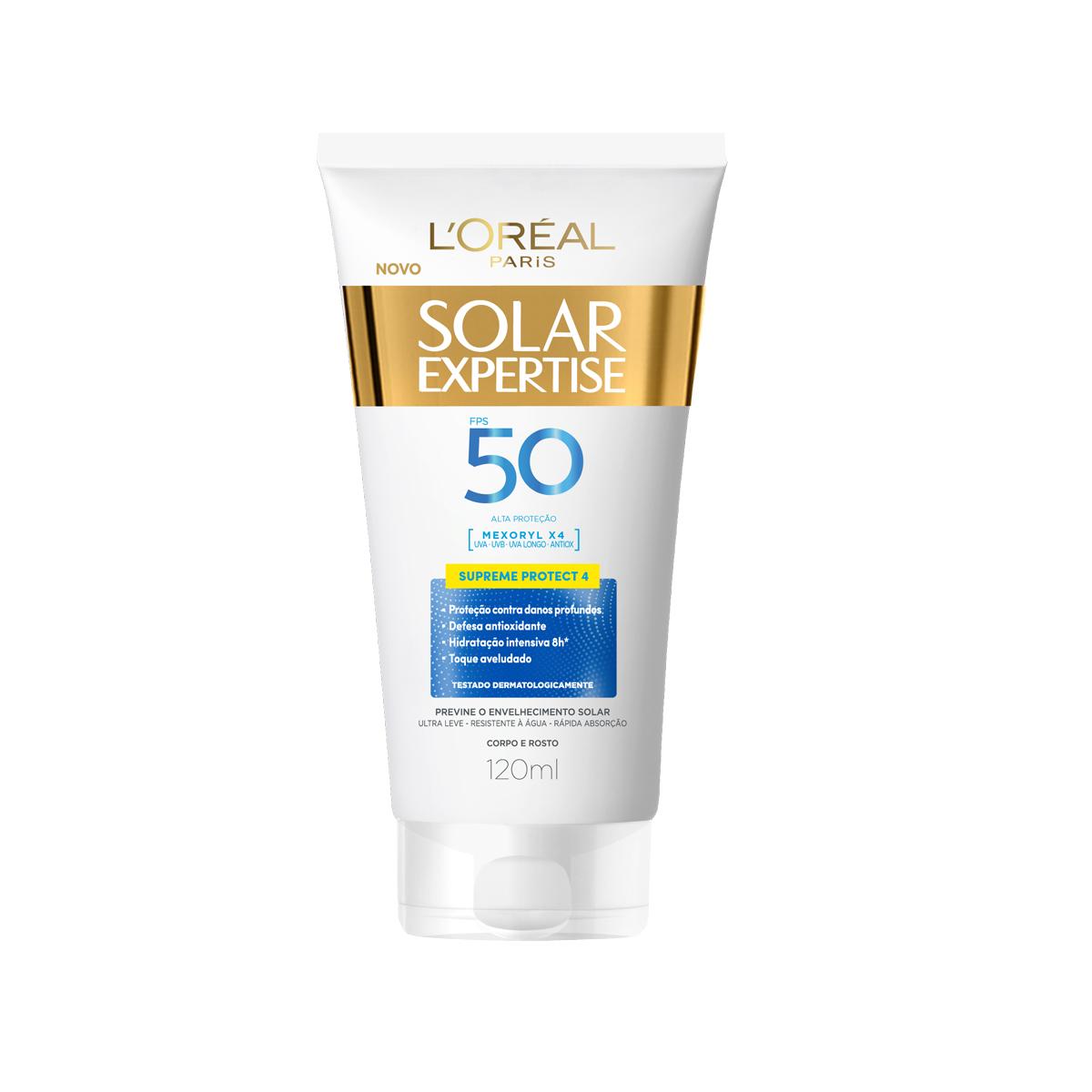 Protetor Solar L'Oréal Expertise Supreme Protect 4 FPS50 120ml