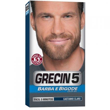 Color Gel Barba e Bigode Castanho Claro Grecin 5