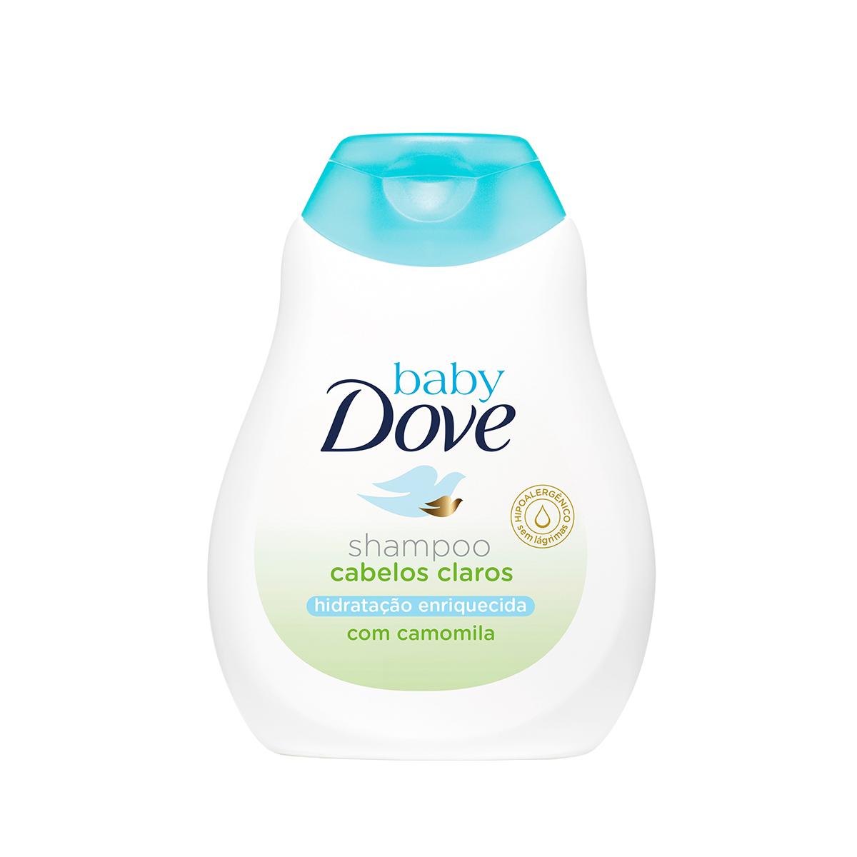 Shampoo Baby Dove Hidratação Enriquecida Cabelos Claros 200ml