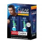 CLEAR KIT 2 SHAMPOOS ANTI CASPA ICE COOL MENTOL 200ML PRECO ESPECIAL