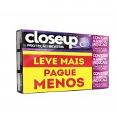 CLOSE UP CREME DENTAL PROTECAO BIOATIVA 3 UNIDADES COM 90G CADA PRECO ESPECIAL
