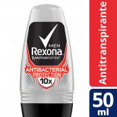 REXONA MEN DESODORANTE ROLL ON ANTIBACTERIAL PROTECTION 50ML