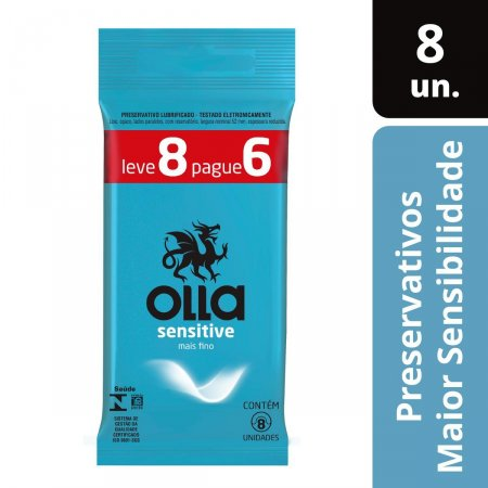 OLLA PRESERVATIVO SENSITIVE LEVE 8 PAGUE 6