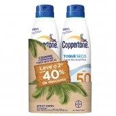 COPPERTONE KIT 2 SPRAY OIL FREE TOQUE SECO 50 COM 40% NA SEGUNDA UNIDADE