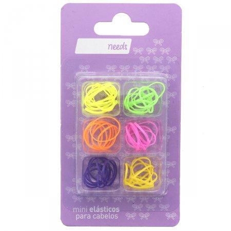 Mini Elásticos Coloridos Needs  50 unidades | Drogasil - Foto 1